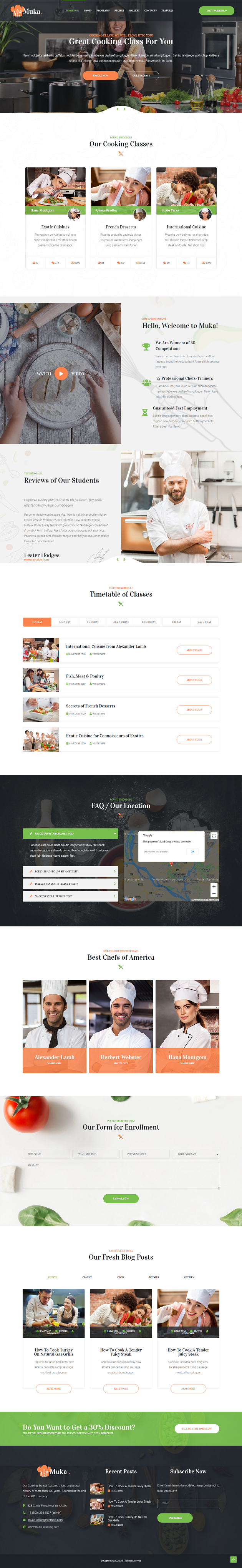 Muka - Bakery and Cooking Classes Joomla Template - 2